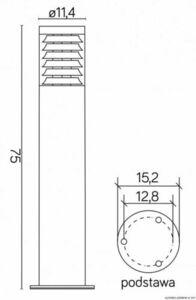 Słupek oświetleniowy JOY 91065L-750 small 2