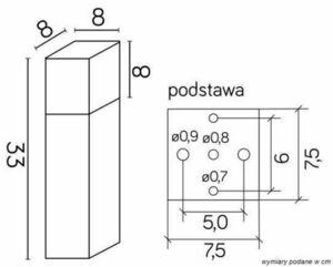Lampa Ogrodowa Stojąca SUMA CUBE  aluminium 33 cm small 2