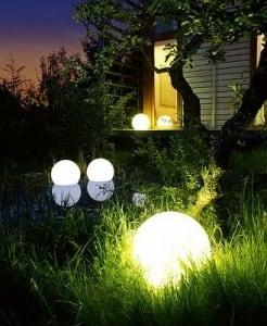 Biała Kula dekoracyjna Ogrodowa - Luna ball 25 cm  small 1