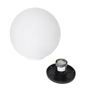 Biała Kula dekoracyjna Ogrodowa - Luna ball 25 cm  small 2