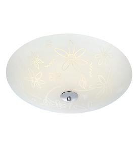 FLEUR Plafon LED 43cm Biały/Chrom small 0