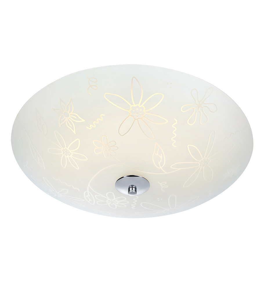 FLEUR Plafon LED 43cm Biały/Chrom