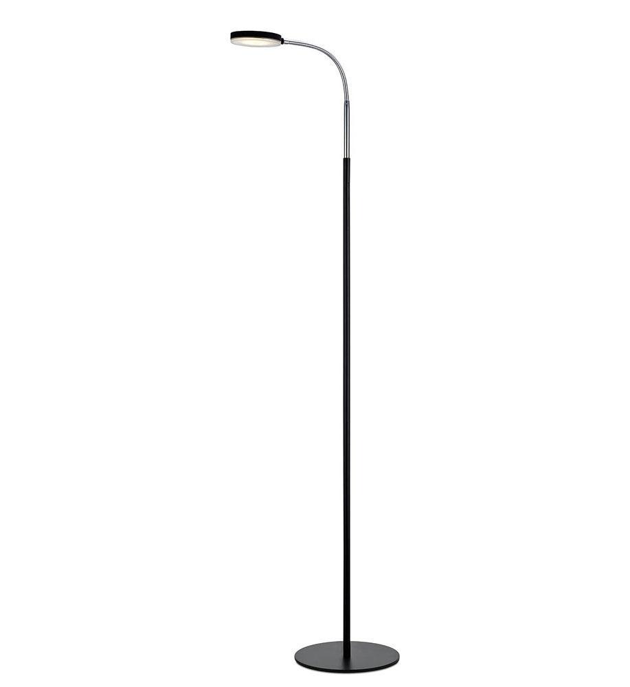 FLEX Podłogowa 1L LED Czarna/Chrom