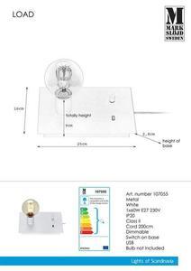 LOAD Stołowa USB 1L Biała small 1