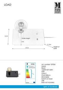 LOAD Stołowa USB 1L Czarna small 1
