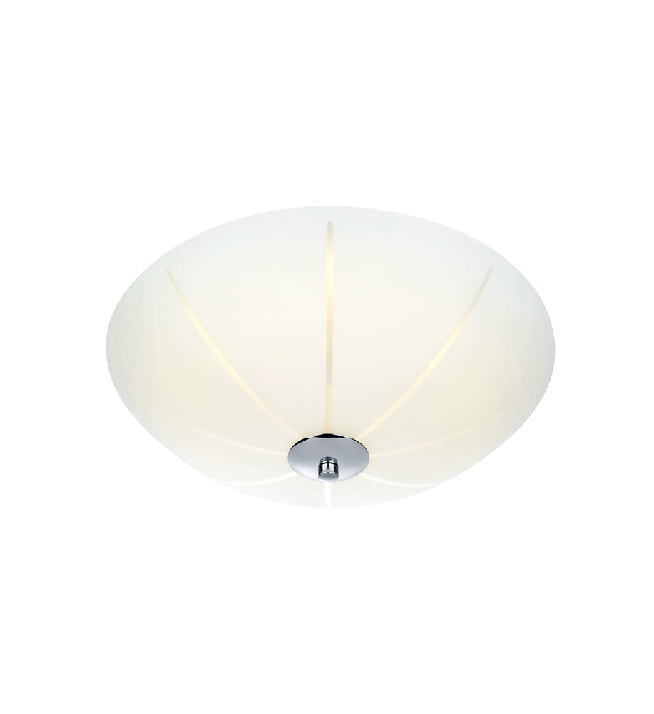 NAZCA Plafon 35cm LED Biały/Chrom