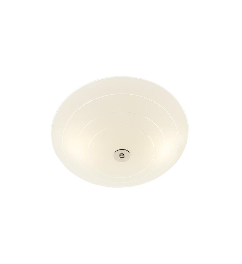 PRESTON LED Plafon 35cm Biały/Chrom