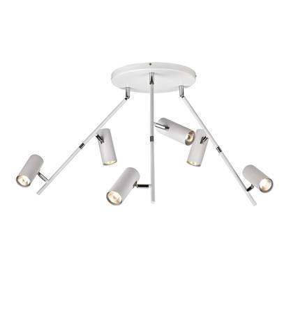 ROMA LED Plafon 6L Biały
