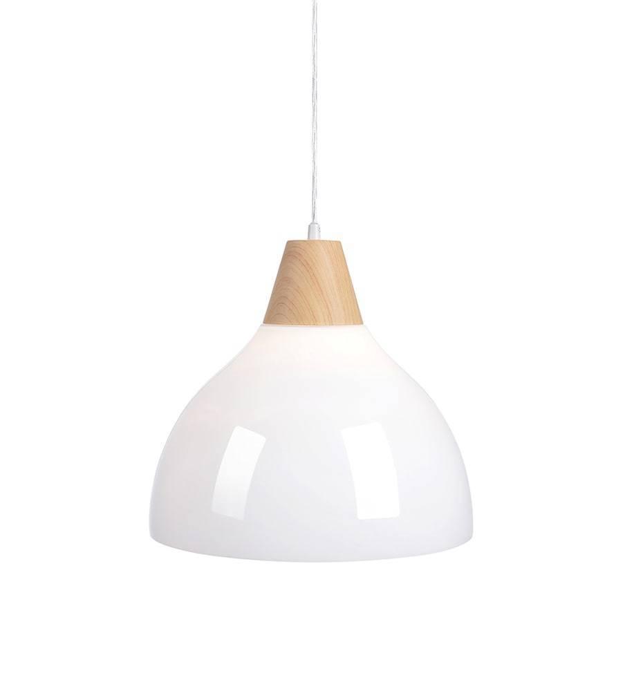 SAPPORO Wisząca 1L 32cm Drewno Druk/Biały Opal