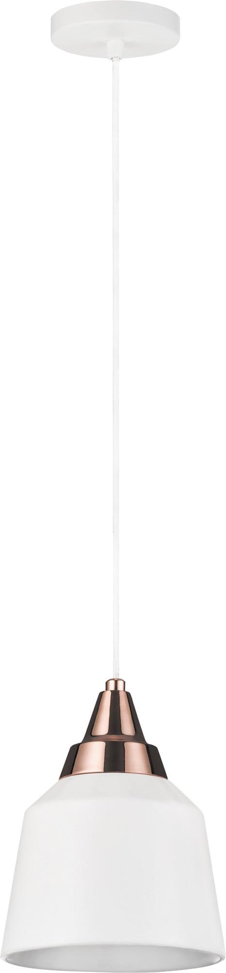 Szklana Lampa wisząca Yoko w kolorze bialym E27 60W