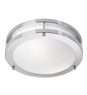 TABY LED Plafon Chrom/Biały