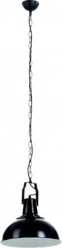 Lampa wisząca czarna Lofti na łańcuchu E27 60W
