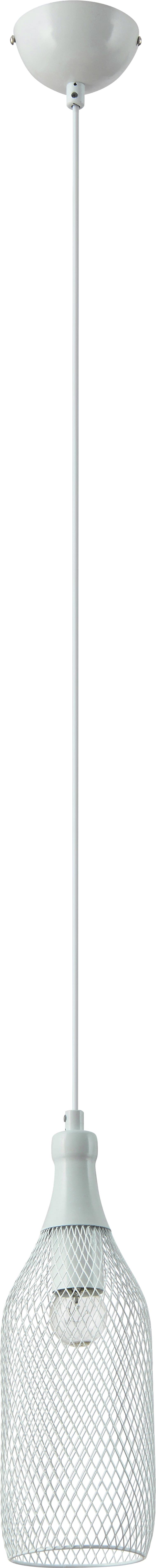 Lampa wisząca transparentna Barla biała siatka 60W