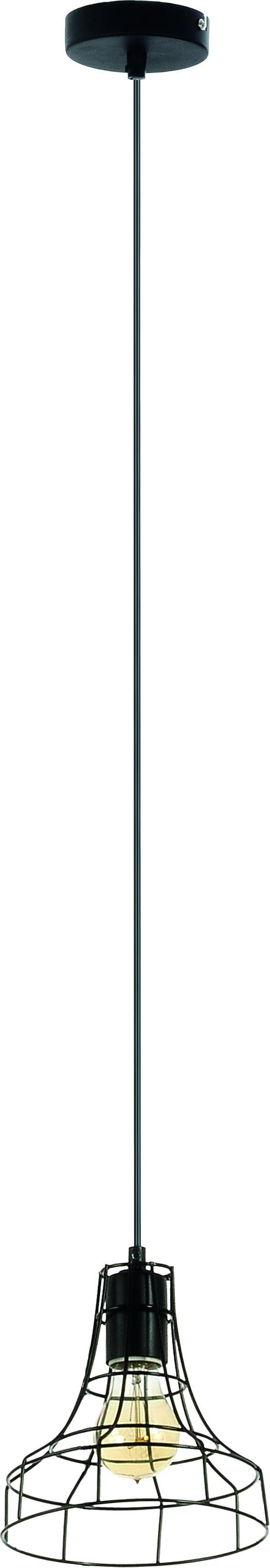 Lampa wisząca Outline Druciany klosz Czarna 60W