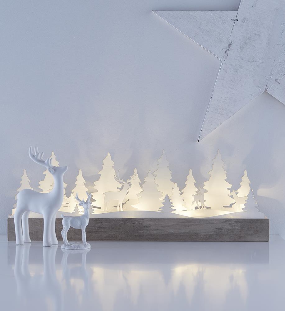 Dekoracja stołowa na święta JOHANNESBERG biała LED