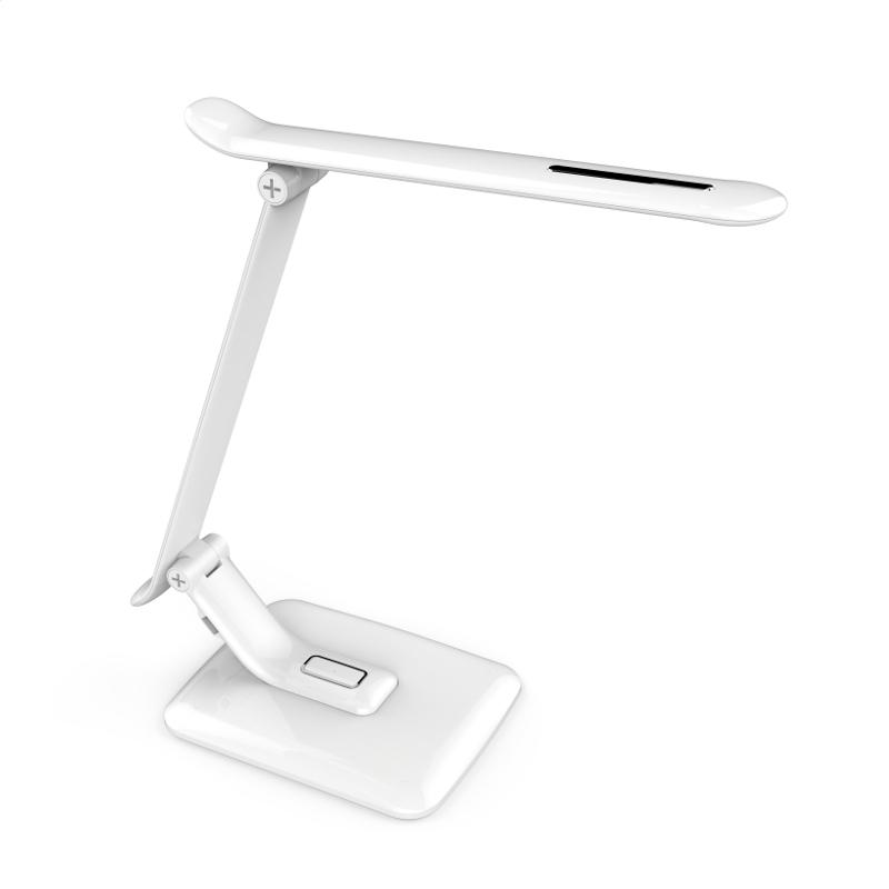 Lampka biurkowa biała PIXI 12W + USB