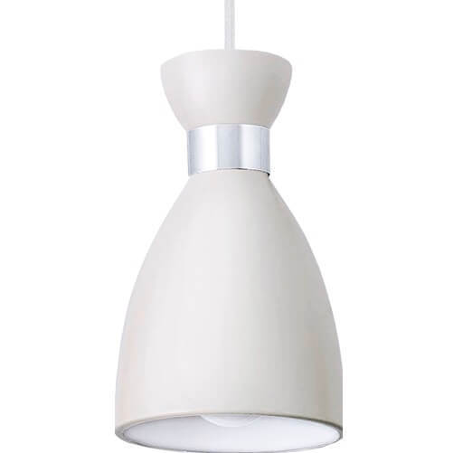 Biała Metalowa Lampa Wisząca Charlotte