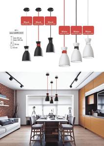 Biało-czerwona Metalowa Lampa Wisząca Susan small 2