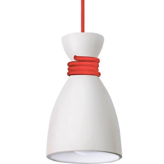 Biało-czerwona Metalowa Lampa Wisząca Susan