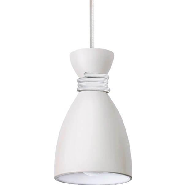 Biała Metalowa Lampa Wisząca Vivian