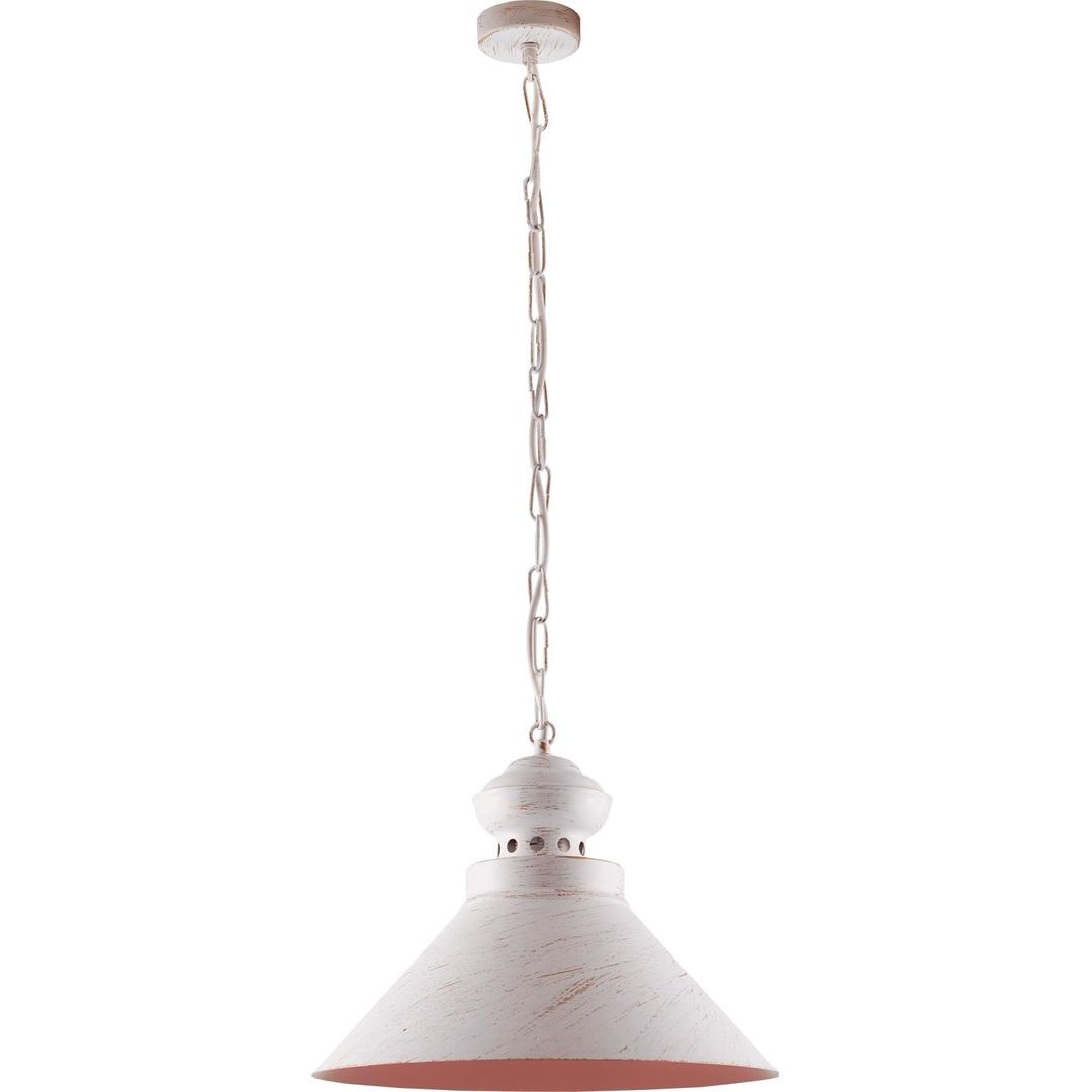 Biało-złota Metalowa Lampa Wisząca Hedwig