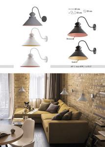 BIało-złota Metalowa Lampa Kinkiet Charlie small 1