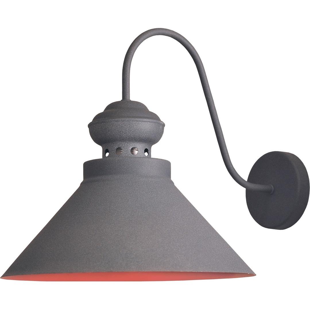 Szaro-brązowa Metalowa Lampa Kinkiet Wendy