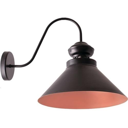 Czarny z brązem Lampa Kinkiet Frank 2
