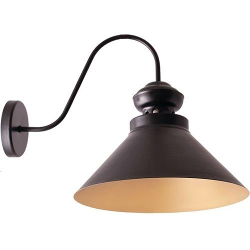 Czarny ze złotem Lampa Kinkiet Frank
