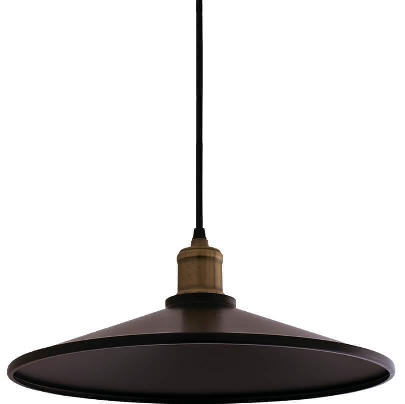 Czarna Metalowa Lampa Wisząca Elaine