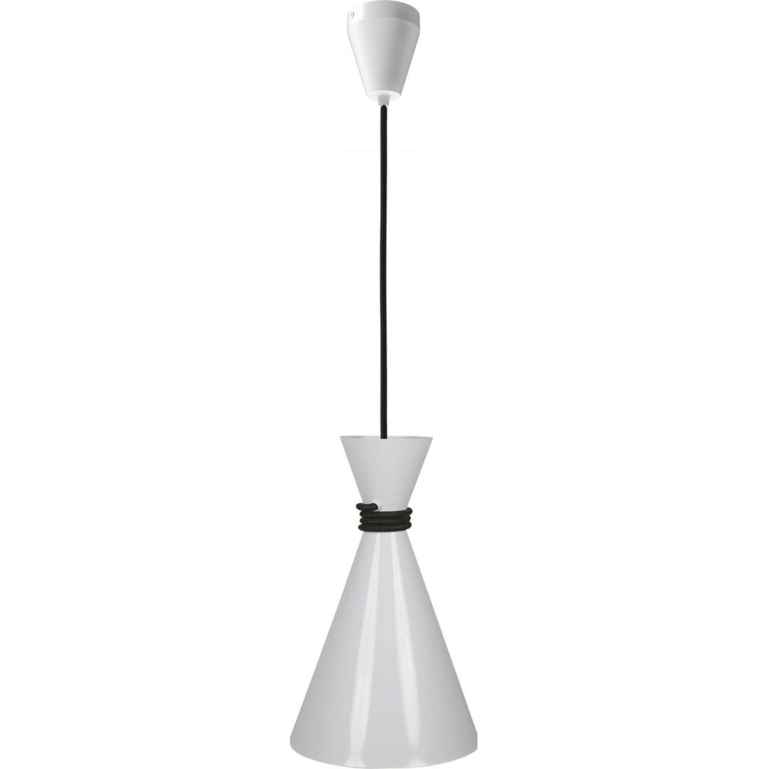 Biała Metalowa Lampa Wisząca Angela