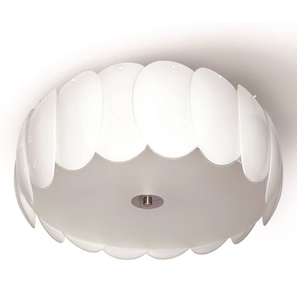 Biała lampa sufitowa plafon Doris