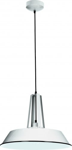 Lampa wisząca metalowa Alvar kolor biały