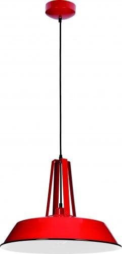 Lampa wisząca Alvar czerwony klosz