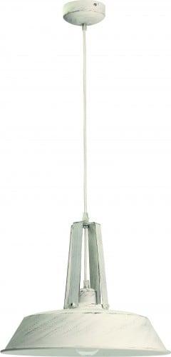 Lampa wisząca z metalu Alvar biały antyczny