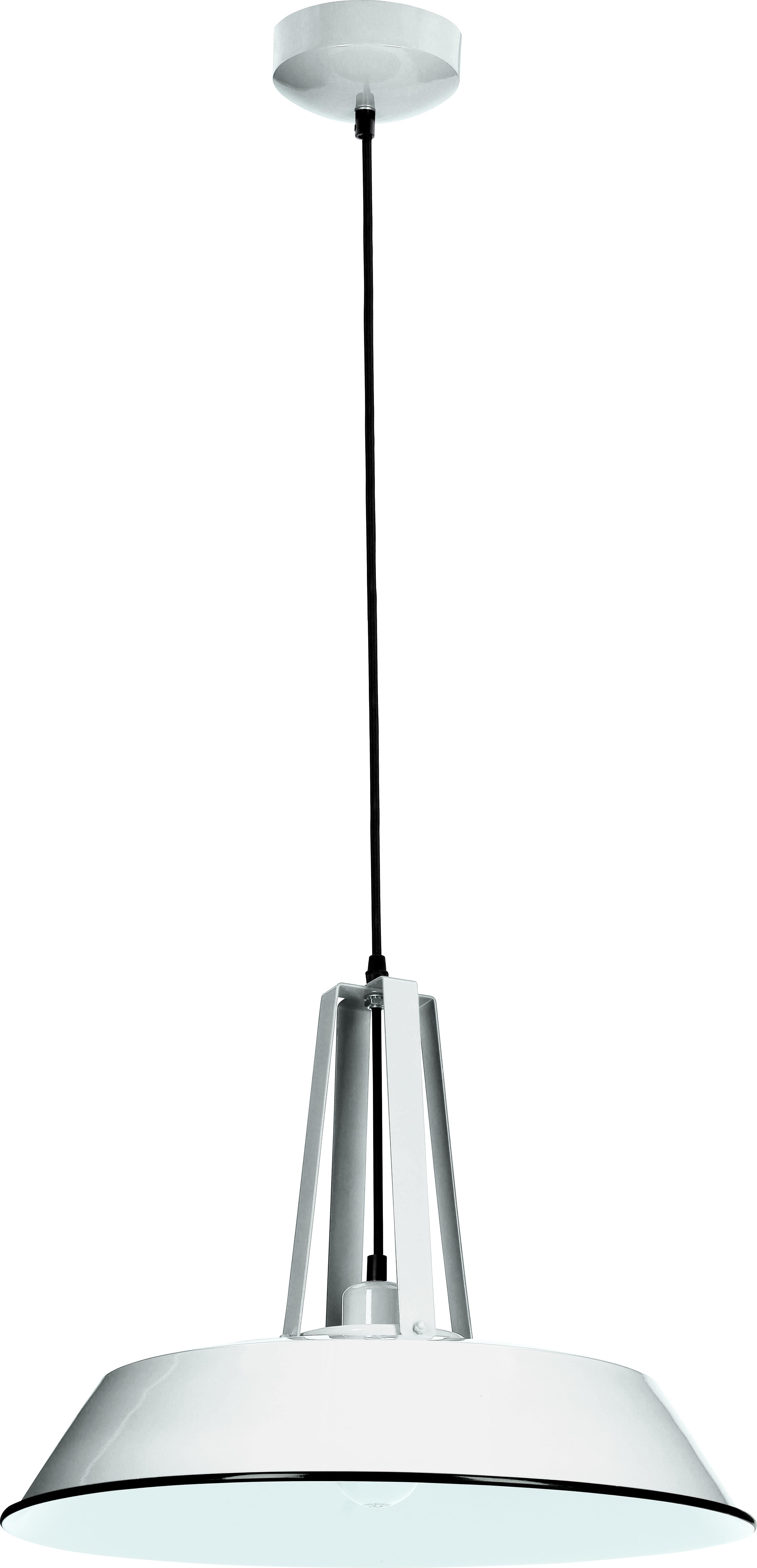 Lampa wisząca z metalu Alvar biała