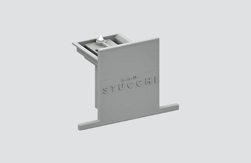 Zaślepka do szyny wpuszczanej 9004-R/W STUCCHI biały, czarny, szary