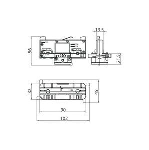 Adapter oprawy DALI 9009/W STUCCHI z selektorem fazy biały, czarny, szary small 1