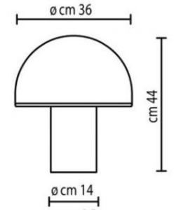 Onfale Grande Artemide biała lampka stołowa  small 1
