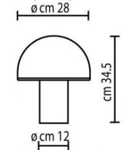 Onfale Medio Artemide biała lampka stołowa  small 1
