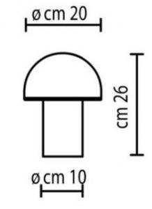 Onfale Piccolo Artemide biała lampka stołowa small 1