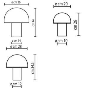 Onfale Piccolo Artemide biała lampka stołowa small 0