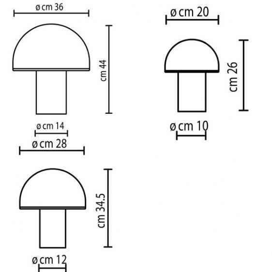 Onfale Piccolo Artemide biała lampka stołowa