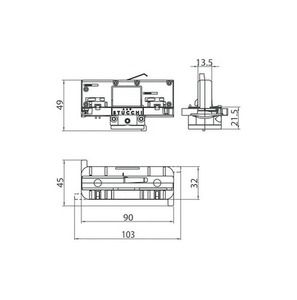 Symetryczny 4 stykowy adapter (3 FAZY + N) Z WYBOREM FAZY STUCCHI black, grey, white small 1