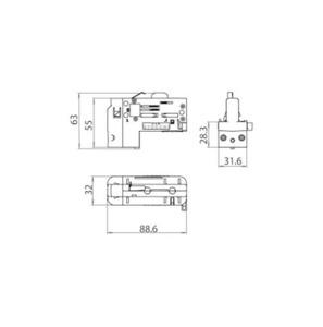 Asymetryczny 6 stykowy adapter 3 FAZY  Z SELEKTOREM FAZY STUCCHI small 1