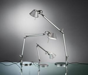 Lampa biurkowa Artemide Tolomeo Aluminium A001000+A004030 small 1