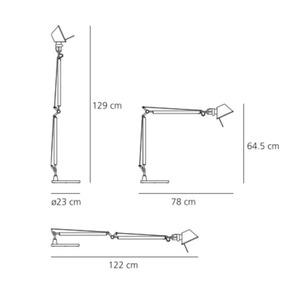 Lampa biurkowa Artemide Tolomeo Aluminium A001000+A004030 small 2