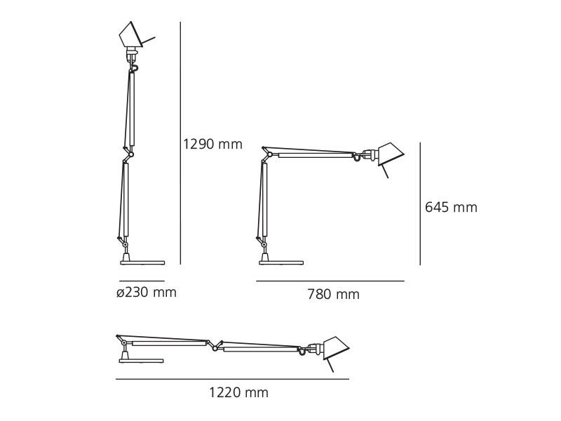 Lampa biurkowa Artemide Tolomeo A004420 biała