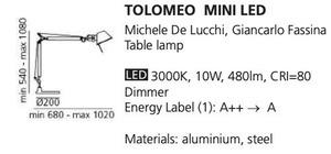 Lampa biurkowa Tolomeo mini biała small 1