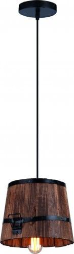 Lampa wisząca Casper rustykalne drewniane wiadro